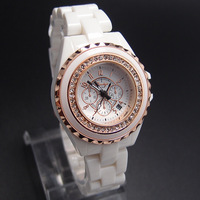 Wholesale Simulate Ceramic Brand Fashion Quartz Watch Women Dress Rhinestone wrist watches 5Y697