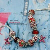 Promotion HOT SALE personalised silver pan beaded Bracelet for women bead Bracelet patterns bijoux jewelry PA1186