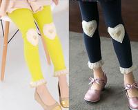 Spring and Autumn Girl heart Legging Kids Pants Children