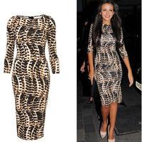 Fashion Uprising 2014 spring fashion leopard print leopard printed slim hip slim dress one-piece dress