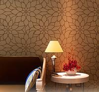 Golden lotus wallpaper sofa background wall three-dimensional  printing gold PVC wallpaper