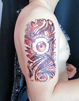 Free shipping! Pro New big size instant waterproof temporary tattoo sticker man paint printed, long last 5-7days,SM-D019