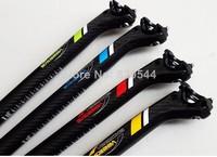 VEETOKA carbon fiber bicycle seatpost 27.2/30.8/31.6*350MM MTB&Road bike seatpost Yellow / Red / Green / Blue