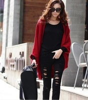 Spring new 2014 women's sweater wraps shawl cape cardigan women plus size outerwear poncho multipurpose knitted sweater women