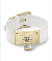 2014 New. Quality Fashion Brand crystal lock leather belt bracelet