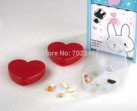 Plastic Crafts pill box heart shape medical dispenser case