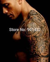 Free shipping! Pro New big size instant waterproof temporary tattoo sticker man paint body tattoo, long last 5-7days, SM-D001