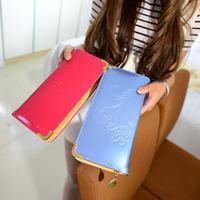 Women's wallet female long zipper design clutch wallet  Flower pattern type