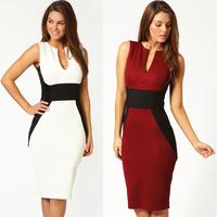2014 spring summer dress slim hip slim one-piece dress casual dress