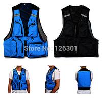 Multi Pockets Fishing Hunting Mesh Vest Mens Outdoor Leisure Jacket