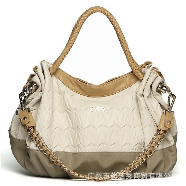 Hong Kong OPPO female bag Korean fashion fold shoulder diagonal chain bag wholesale handbags new spring(China (Mainland))