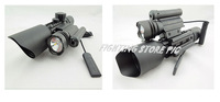 M9D Rifle Scope w/ Side Mounted Laser and Flashlight Tactical Red Green Illuminated Riflescope Sight   with LED