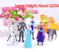 Hot Sale! 2014 NEW 6pcs/Set Frozen Anna Elsa Hans Kristoff Sven Olaf PVC Action Figures Toys Classic Toys. Free shipping!