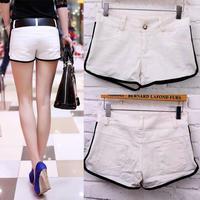 New 2014 Summer Fashion Vintage Hot White Color Mini Shorts Big Plus Size S M L XL XXL Wholesale Sexy Shorts Women Cotton