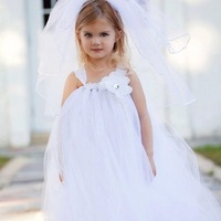 2014 Europe and American Girl Dress Princess Wedding Fashion Multilayer Lace Tutu Wedding Veil For Flower Fairy C40-26