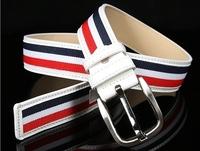 New 2014 Fashion Mens Canvas Belt Buckle Metal Pin Tactical Belt Men Strap Belt Male Genuine Leather Canvas Belt Free Shipping