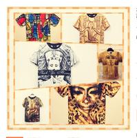 new 2014  best quality 3d printed cotton t shirts mens shorts sleeve fashion 2014 new Egyptian pharaoh man hip hop t-shirt