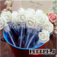 Lovely WHITE Rose Wedding Bubbles Bottle Bridal Party Favor Wedding Decorations