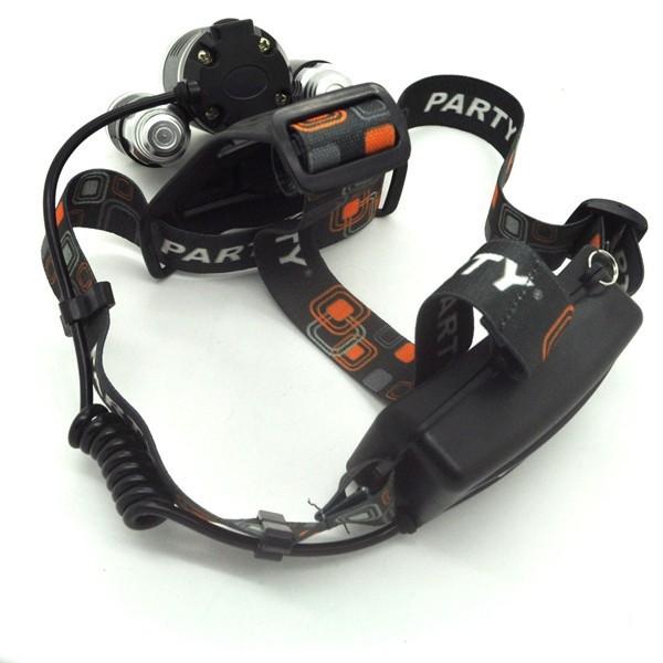 Налобный фонарь OEM LED 3 x CREE xm/l T6 5000 + RJ-3000 3 6 5000 carretel arremesso