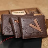 2014 Promotion!fashion man wallet,Men's leather wallet,man leather purse/wallet for men 3 Model free shipping M16
