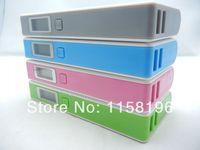Cenda V8 Portable Dual USB Power Bank 12000mAh External Emergency Battery Pack With Screen / Light / Retail Box 20pcs/lot
