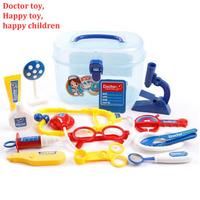 Kids Simulation Doctor Pretend Play Set Toy Medicine Box Chest Kit Instruments Nurse Children Baby Playsets,1Set=12*Tools+1*Case