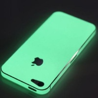 Glow in the Dark Full Cover case  Protector Shield Luminous Sticker for Iphone 4 4s  2pcs/pack  freeshipping