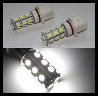 2pcs / pair P13W 18 SMD LED White Daytime Fog Lights Bulbs for Chevy Camaro RS, Skoda Yeti,Mazda, Toyota