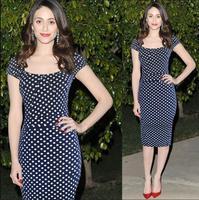 New 2014 fashion women brand dresses Europe Slim waist polka dots wave point summer casual dress Ebay hot selling women dresses