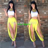 2014 New Fashion Sexy Bandage Women's Party Club Dress Clubwear Nightclub Bandage Dresses S M L jumpsuits t-shirt &pantspants