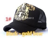 Free Shipping Violent bear truck cap Korean Mesh hat Snapbacks caps, hat circumference 55--60cm 3 color