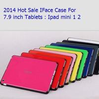 100pcs/lot High Quality korea candy colorful iface Soft TPU Gel Blue Case For iPad Mini 2 Case For iPad Mini case Free Shipping