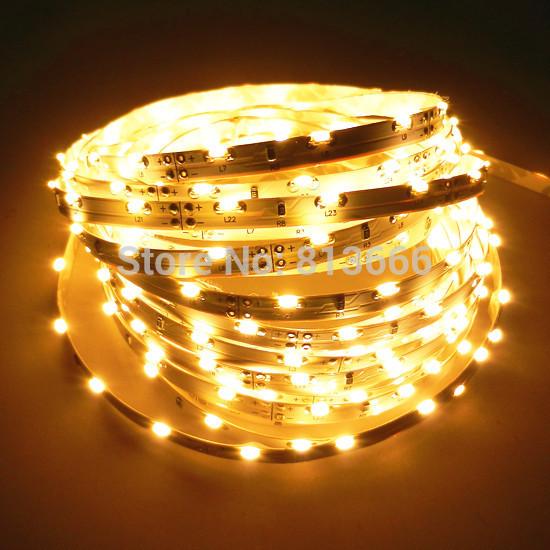5m 335 Side Emitting LED Strip 5M 300 Warm White Light non-Waterproof 5mm width(China (Mainland))