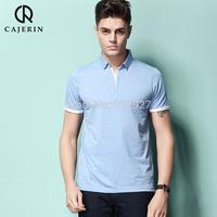 2014 new summer free shipping casual polo shirt shallow printing polo shirt short-sleeve fashion pique 100%cotton S-XXL size