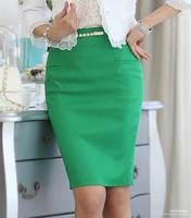 New Style Women Skirts 2014 Summer Solid Knee-Length High Waist Big Size XXL Work Pencil Skirt Fashion Girls Saias Femininas