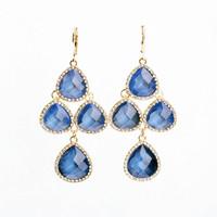 2014 new blue tears of ocean water drop earring sapphire fashion earring 511 elegant gala dinner earring