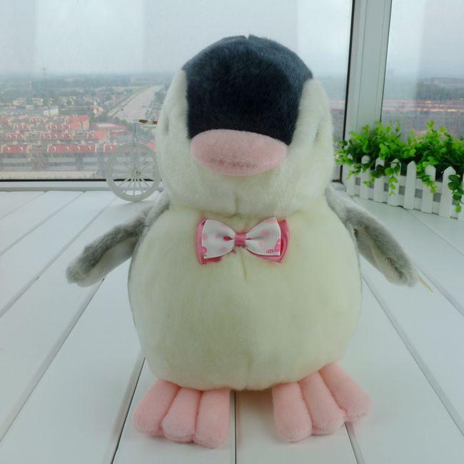 stuffed plush 35 cm bowtie penguin plush toy high quality doll w794(China (Mainland))