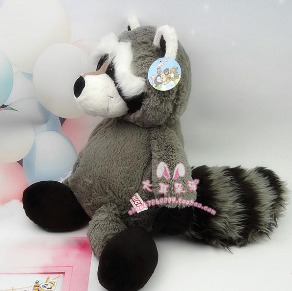 stuffed animal plush 35cm cute raccoon plush toy w822(China (Mainland))