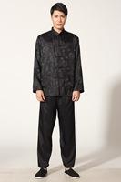 Wholesale New Blue burgundy Gold Black White Summer Chinese Men's silk suit pajamas Dress  Sz: S M L XL 2XL 3XL