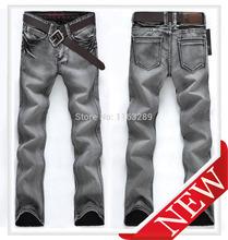 primavera novo 2014 famosa marca global mens moda jeans lavado jeans casual vestido de inverno homens jeans calças famosa estrela(China (Mainland))