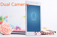 "New Arrival JYL Y3 Android 4.0 5"" IPS 2G RAM USB port+wifi+gravity senseor Dual Camera 5MP Single SIM smartphone android"