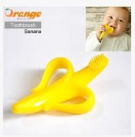 Min. order is $15 (mix order) 1439 Children fun banana toothbrush The teeth grinding rod baby chew bones