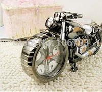 orginal package Motorcycle needles Alarm quartz Clock Desk Clock Motorbike perfect Gift Clock ABS Material 1pcs/lot