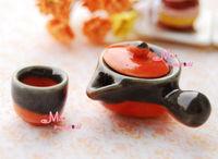 1:12 Dollhouse Miniature Porcelain traditional decoction gallipot & Cup 2PCS