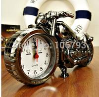 Orginal package Motorcycle needles Alarm quartz Clock Desk Clock Motorbike perfect Gift Clock ABS Material desktop clock