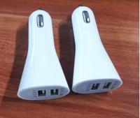 Dual USB Car Charger Mobile iPhone4S/GPS/IPAD234 mini universal USB car charger head