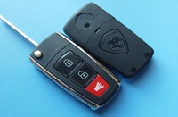 New style Proton 2+1 button flip remote key shell proton key case proton key blank