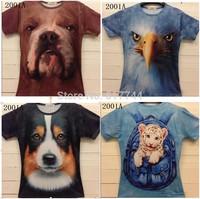 free shipping!  2014 new model men leopard/lion skull/animal Funny 3D T shirt tee tiger/cat/dog/wolf fashion 3d t-shirt top tee