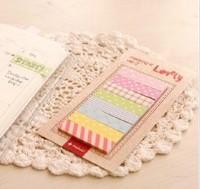 Free ship 1lot=20pcs/korean stationery kawaii A pad Colorful post-it notes Candy color sticky notes/memos pad/shcool supplies