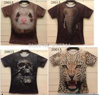 free shipping!  2014 new model men t-shirt animal Funny 3D T shirt tee fashion 3d t-shirt top tee